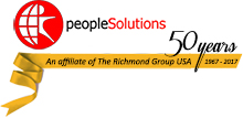 PeopleSolutions Logo - An affiliate of the Richmond Group USA Celebrating 50  yeras